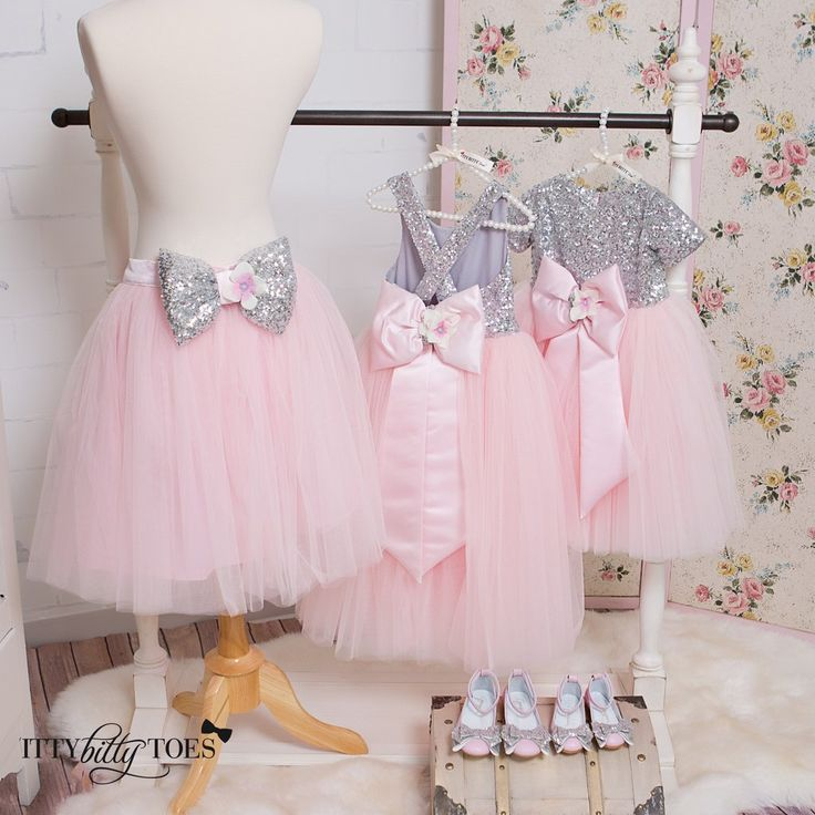 Tulle skirt customized to match some of our couture dresses. Offered by Baby Shop Online - Itty Bitty Toes!