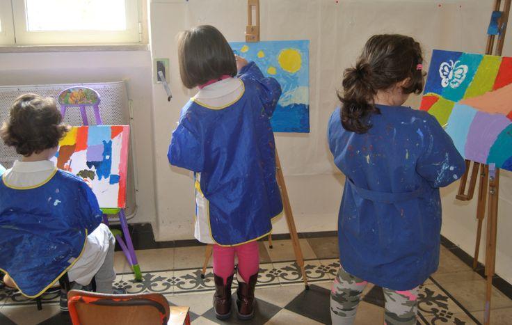 Le opere d'arte dei bambini di 5 anni