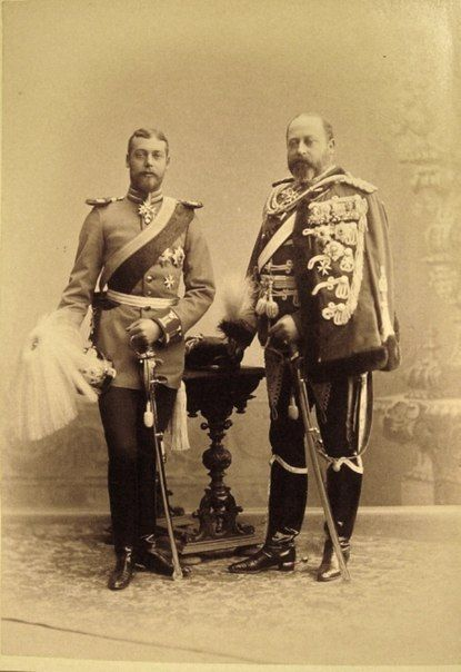 King Edward VII with his son George, Duke of York ( future George V)