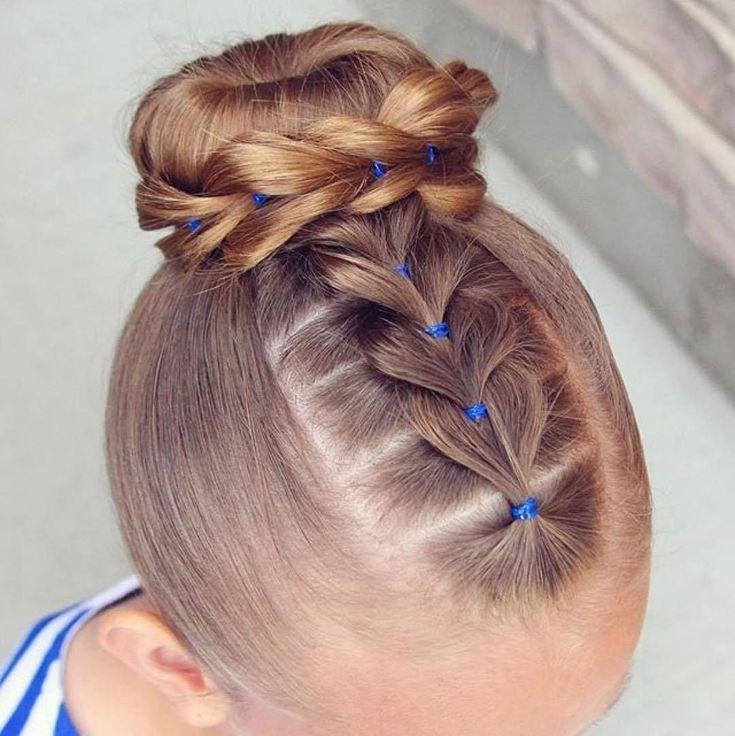nice 45 Stunning Little Girls Hairstyles - Creative Styles for 2017 #BunHairstylesBallet #HotHairstylesForWomen