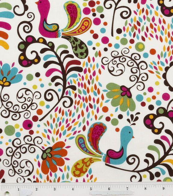 Keepsake Calico Fabric-Pretty Peacocks, , hi-res
