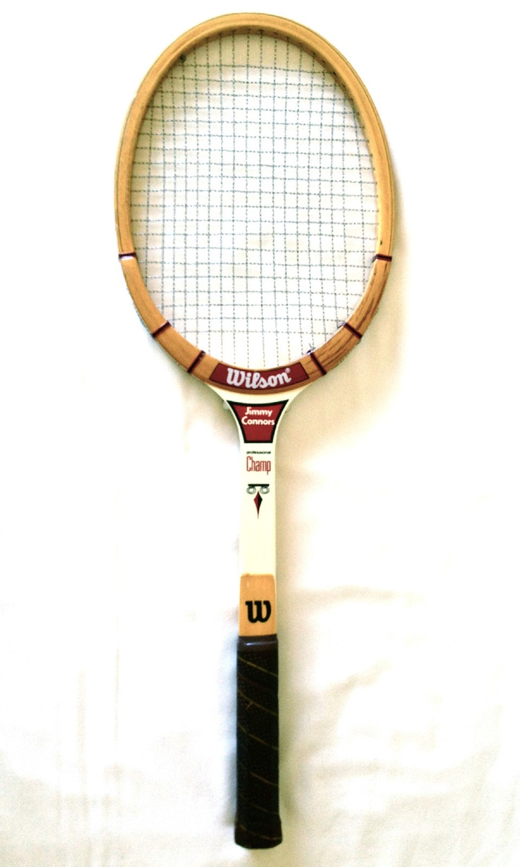 Wilson Jimmy Connors Professional Champ Vintage Wooden Tennis Racquet 4 5 Light | eBay