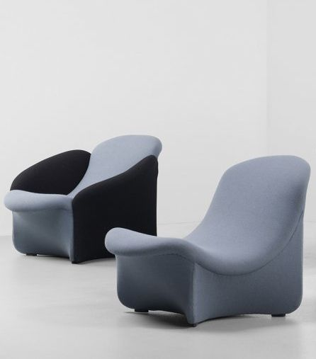 Pierre Paulin, Lounge Chairs for Artifort, c1965.