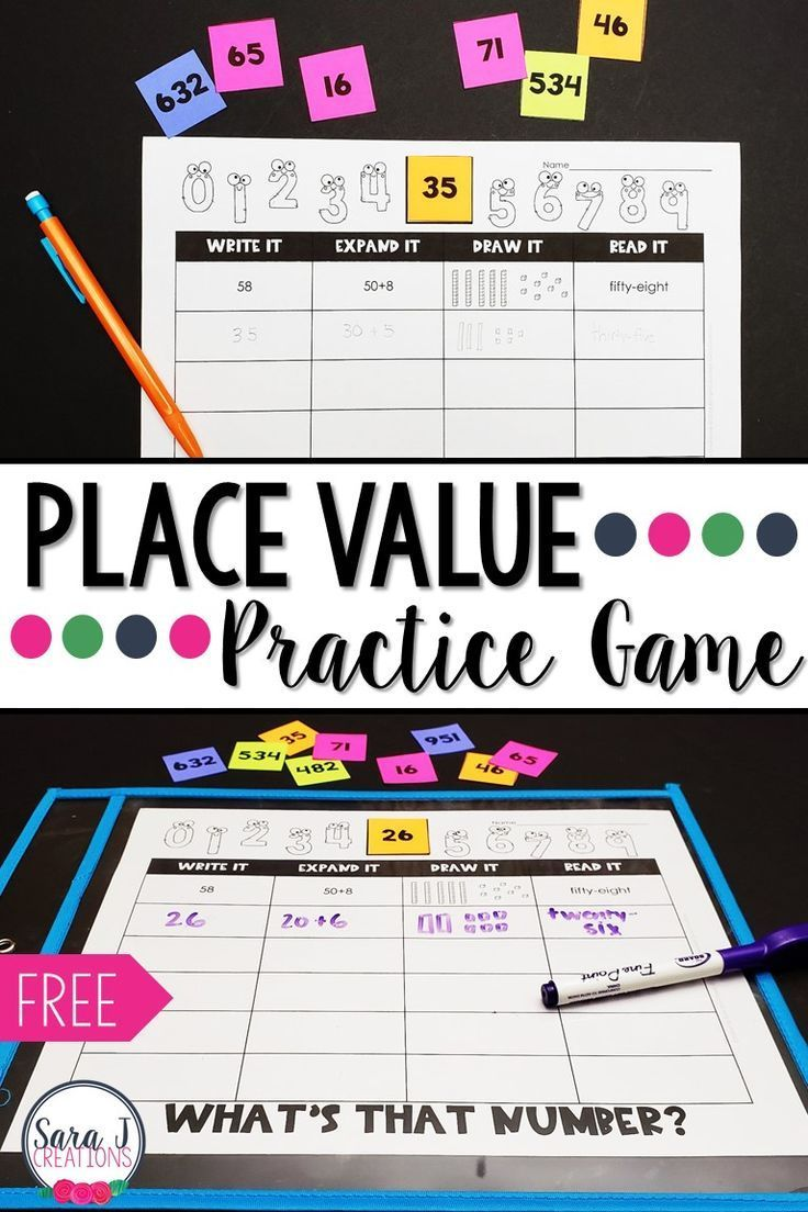 Make Place Value More Fun With This Free Place Value Practice Game This Is Ideal For Second Grade Because Second Grade Math Teaching Place Values Place Values How to read three digit numbers