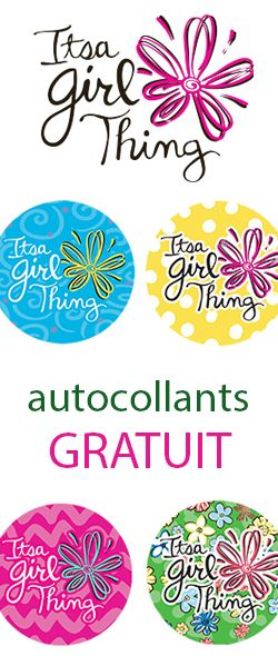 """Autocollants """"It's a Girl Thing"""" gratuits"""