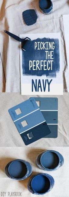 How to pick the perfect navy paint color for your home. Loving these dark & moody choices for the walls.