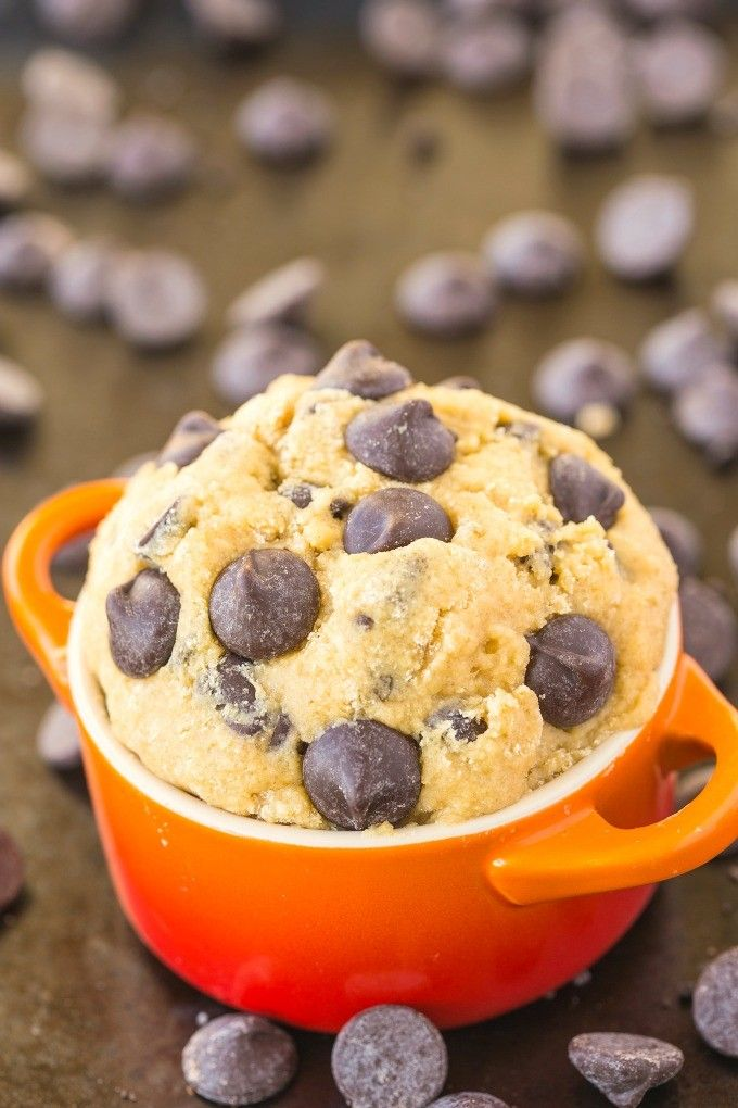 Healthy Classic Cookie Dough For One (Paleo, Vegan, Gluten Free)- Quick, easy and single serving, this is your new snack or breakfast choice!