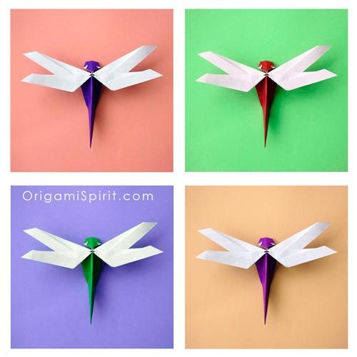 Origami Dragonfly by Nguyễn Hùng Cường - folded by Lela Torres of Origami Spirit