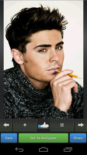 An American actor and singer Zac Efron HD Wallpapers collection. There are more than 500 Zac pictures in this app. You can save picture in SD card, you can set them as wallpapers or backgrounds or share them via social networks, e-mail or MMS.App Feature: => Set it as a wallpaper => Save in SD card => Share with others. => Easy Gallery view. =>Can zoom in or zoom out. => High SpeedAbout Zac Efron :(Wikipedia) He began acting professionally in the early 2000s, and b...