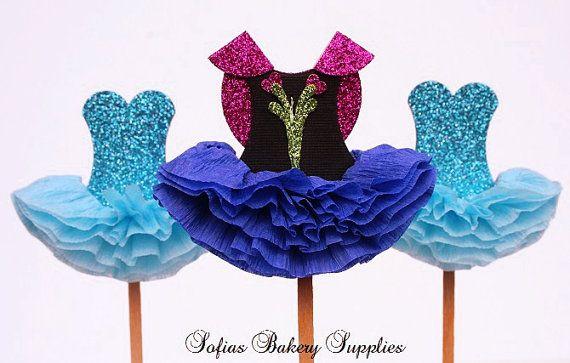 Frozen Princess Anna & Elsa 6pc set cupcake by sofiabakerysupply, $15.00