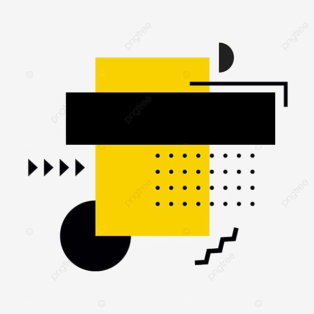 Cartoon Yellow Sign Hand Drawn Cute Memphis Pop Style Illustration Rectangle Dot Dot Arrow Xintiandi Memphis Color Block Png And Vector With Transparent Back Yellow Sign How To Draw Hands Hand