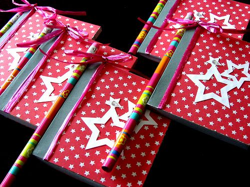 American Girl Doll Party Favors - Journals and a Pencil