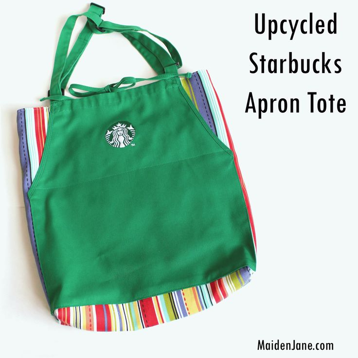 Tote Bag Made from Upcycled Starbucks Aprons