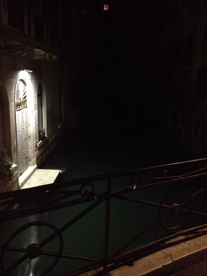Eerie at night time Venice