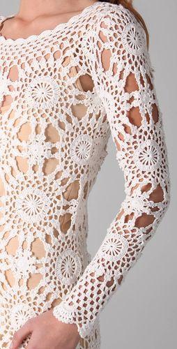 Crochet tunic details