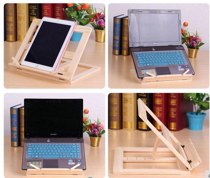 Portable Folding Wooden Book iPad Music Recipe Laptop Stand Holder #UnbrandedGeneric