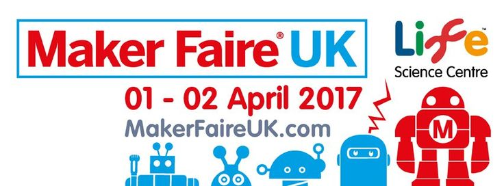 Maker Faire UK is the greatest show (and tell) on Earth! Taking place on Saturday 01 – Sunday 02 April 2017 at Life Science Centre in Newcastle, it's a two-day family-friendly festival of invention and creativity.  Maker Faire UK brings together over 300 hackers, crafters, coders, DIYers and garden shed inventors from across the globe – people who love to make stuff and who want to share their passion with the public.   Find out more - http://www.makerfaireuk.com
