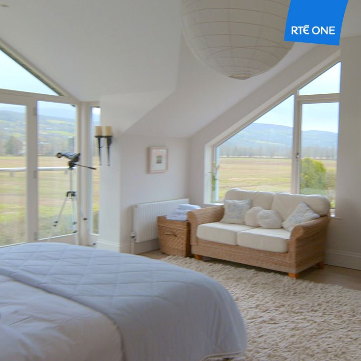 Tom Hayden and June Kennedy have extended up in their Tipperary home taking advantage of the spectacular views from their master suite. (Episode 1)