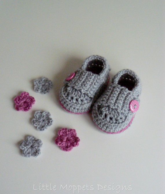 Baby Girl Loafers  Grey Baby Shoes  by LittleMoppetsDesigns