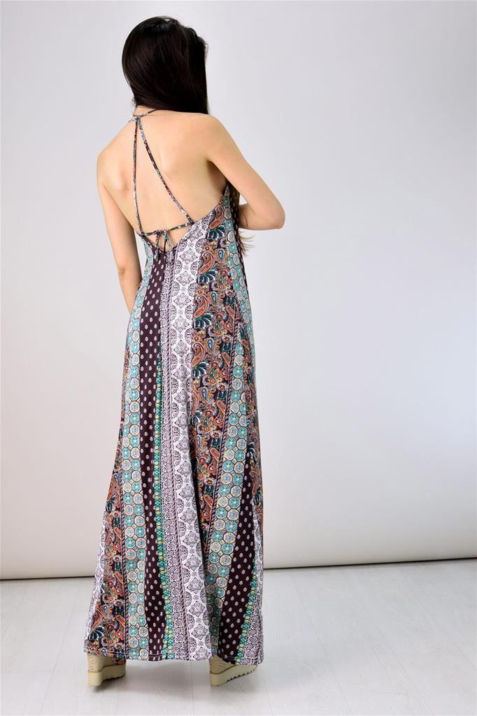 Potre – Μακρύ φόρεμα με κορδόνι στην πλάτη