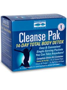 TRACE MINERALS CLEANSE PAK 14-DAY TOTAL BODY DETOX KIT 14 DAYS (3 UNITS)