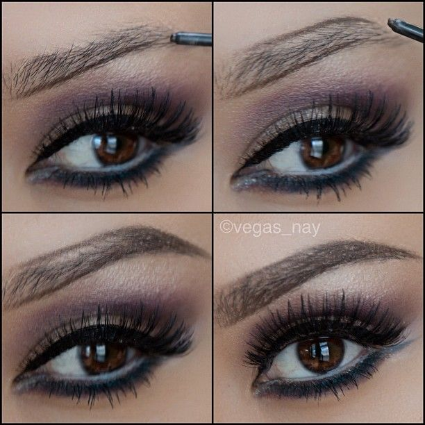 1.) draw one line at bottom of brow and draw towards arch 2.) apply the top line 3.) fill in the arch and the outer portion of brow so it's fairly dark 4.) carefully shade in inner portion of brow, drawing lightly mimicking that of hair