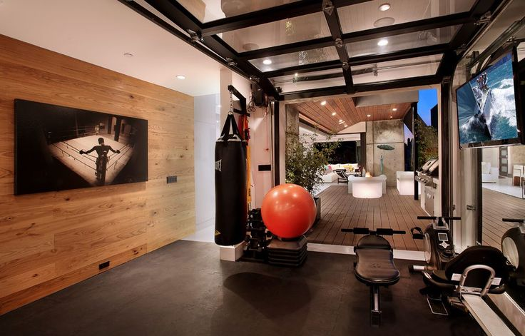 orange-county-clear-garage-doors-with-fabric-shade-home-gym-contemporary-and-exercise-equipment-earth-tones.jpg (990×634)