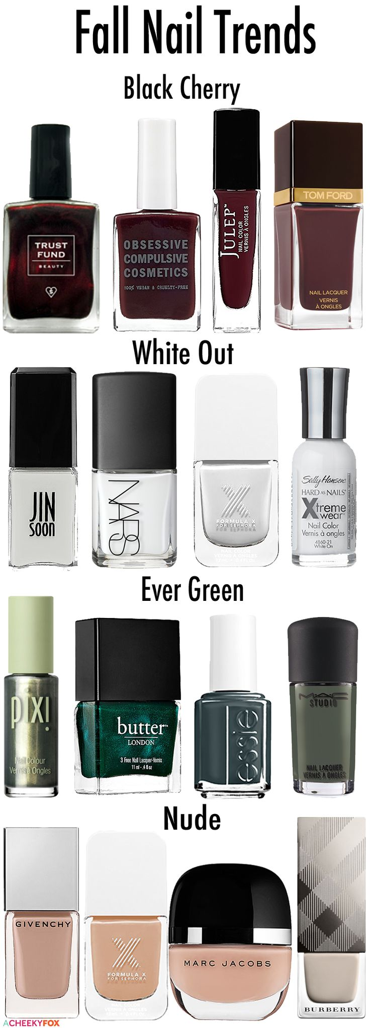 Instead of feeling summertime sadness, I'm going to rejoice in that autumntime gladness with my favorite fall nail colors for 2014.
