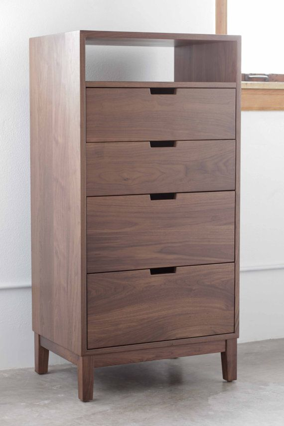 Walnut Dresser by hedgehouse on Etsy