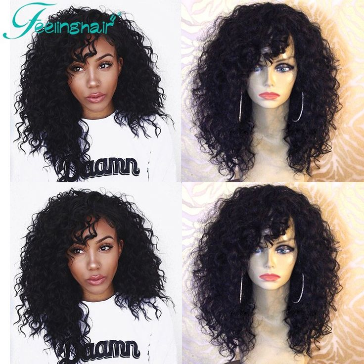 Short Curly Lace Front Wigs Human Hair 100% Indian Remy Human Hair Full Lace Wigs With Bangs Natural Hair Lace Wigs Virgin Hair