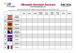 eurovision 2014 all flags