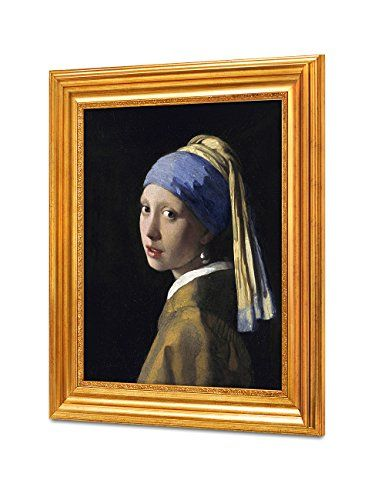"""DecorArts - Girl With A Pearl Earring by Johannes Vermeer. The World Classic Art Reproductions. Giclee Print with Matching Museum Frame, 16x20\"""", Finished size: 22x26\"""" *** Click image for more details."""