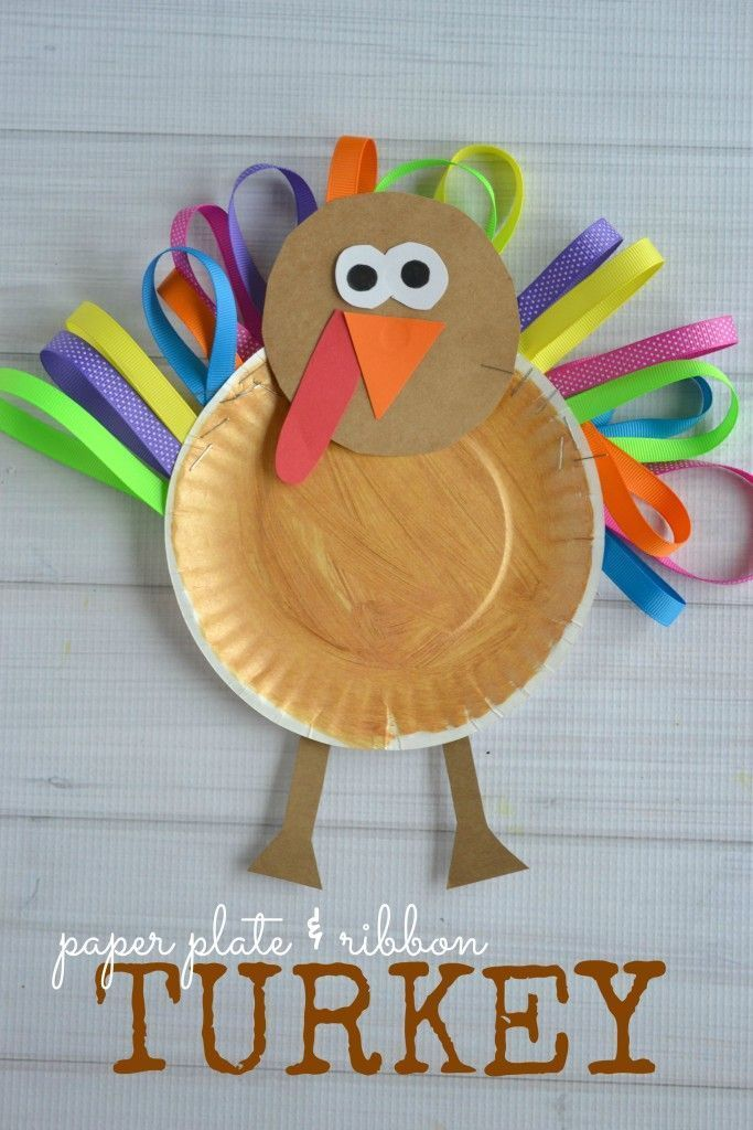 What a fun paper plate turkey!