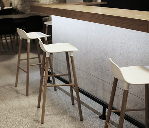 Form barstools spotted at a new modern pizzaria and restaurant in the small town Koznia in Slovenia
