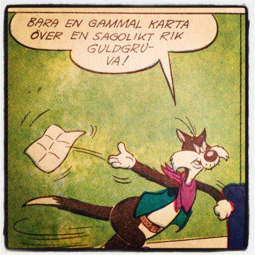 """Att göra: Sätt upp lapp på brevlådan - """"Ingen reklam eller gamla kartor över sagolikt rika guldgruvor, tack."""" – Pelle och Sylvester, 1968"""