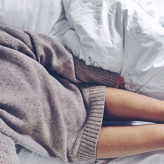 Time to relax in an oversized sweater.
