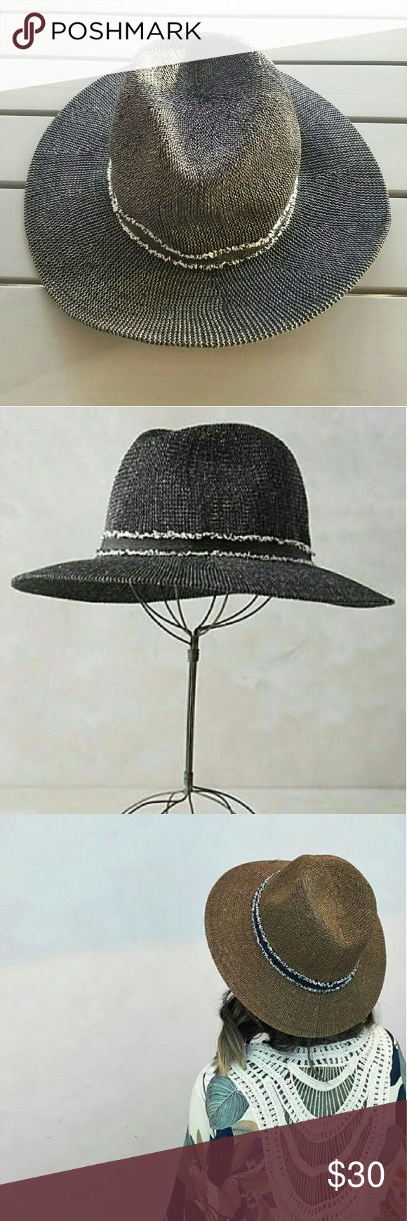 Anthropologie Pinyon Rancher Hat Black Rancher hat in excellent like new condition. Worn once for short period of time but had to remove because too tight around my big forehead. pinyon  Accessories Hats
