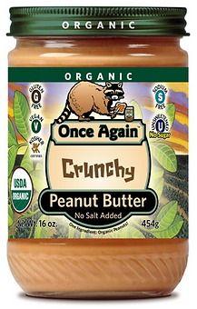Organic Peanut Butter (Crunchy, Unsalted)