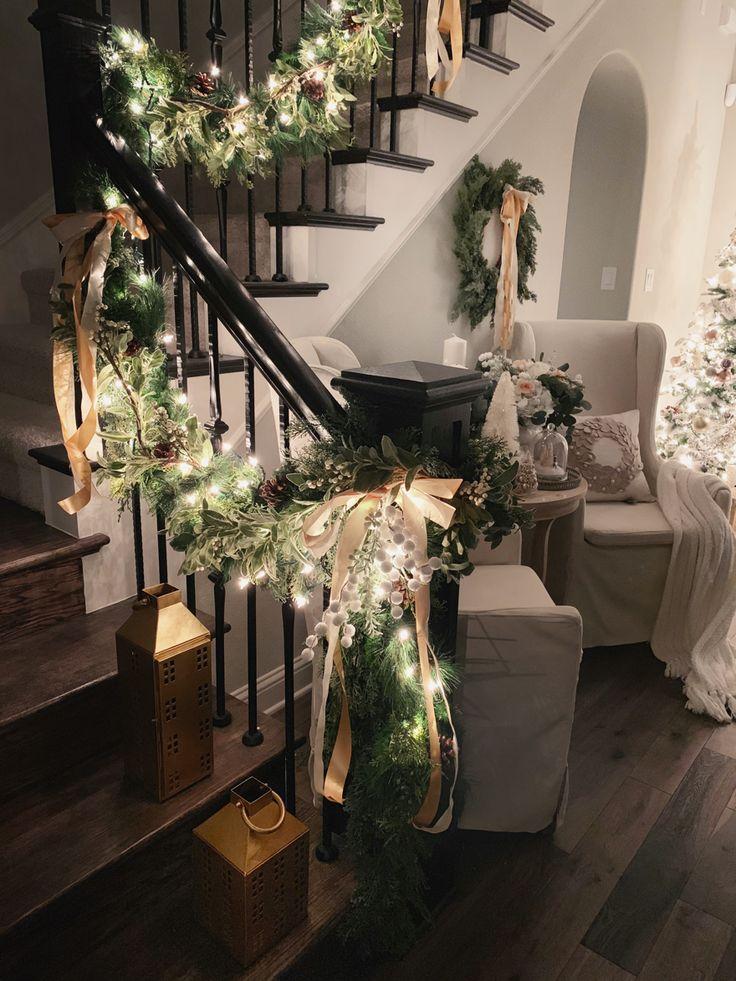 Christmas Home Tour 2018: Modern Farmhouse Glam with Silver and Gold – My Texas House Cindy Davis