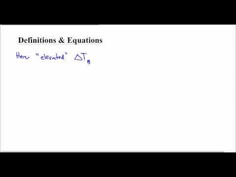 Calculating Freezing Point Depression + Boiling Point Elevation - YouTube