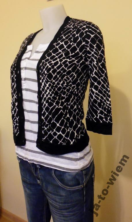 Sweterek Damski rozpinany w cętki rozmiar 36