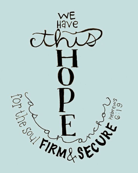 Anchor of HOPE 8x10 Print on Etsy, $12.00