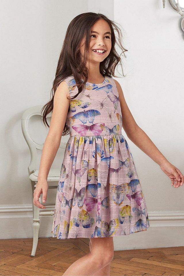 """Next Festliches Kleid mit Schmetterlingen ab 50,00€. Aus Viskonemix mit Baumwolle, Futterstoff aus reiner Baumwolle, The """"Next""""-Look für Kinder bei OTTO"""