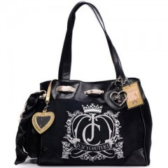 Classic Juicy Couture Black Crown Crest Daydreamer Handbag Outlet On