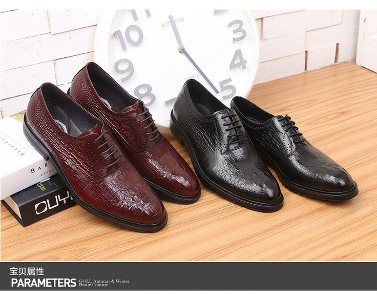 2015 Hot Sale spring and autumn England Crocodile full grain embossed Leather Business Men's fashion Pointed toe oxfords shoes