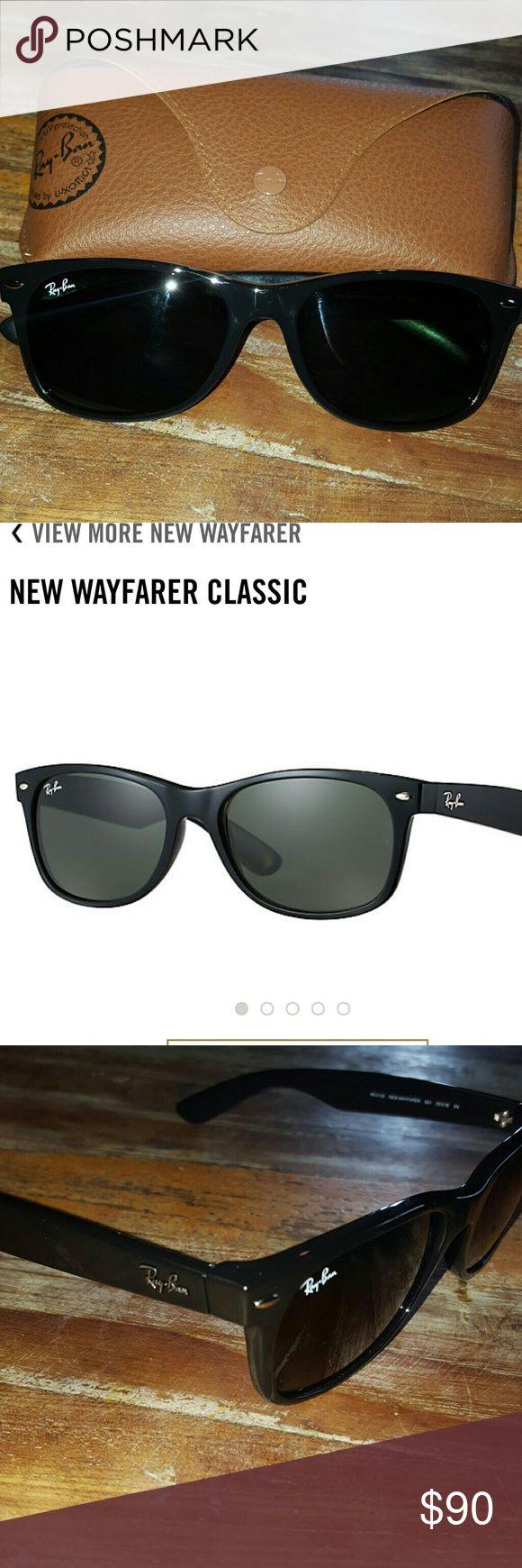 85405a65e3 ray ban wayfarer classic black blue mirrored polarized ray bans