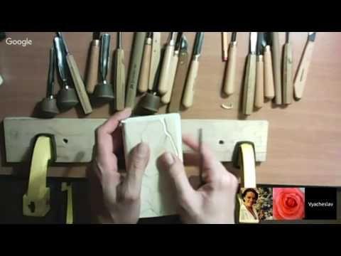 Квитко Вячеслав МК Художественная резьба по дереву Резьба бутона розы - YouTube