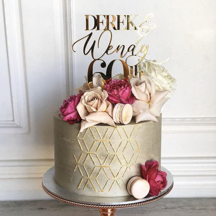 Anniversary cake topper wedding anniversary cake topper
