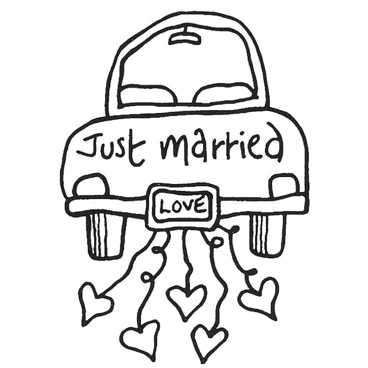 wedding just married coloring pages - Google Search