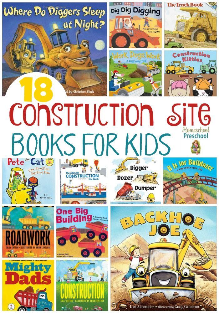 18 Construction Site Books for Kids | homeschoolpreschool.net